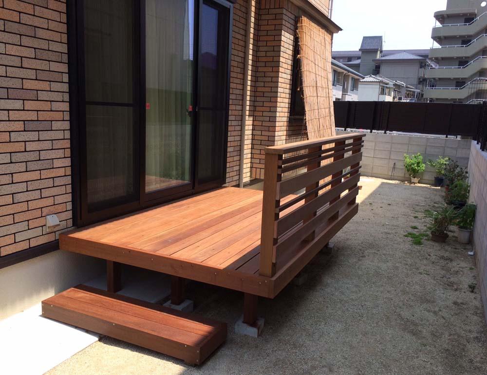 組立(DIYキット)ウッドデッキ自作中川木材産業