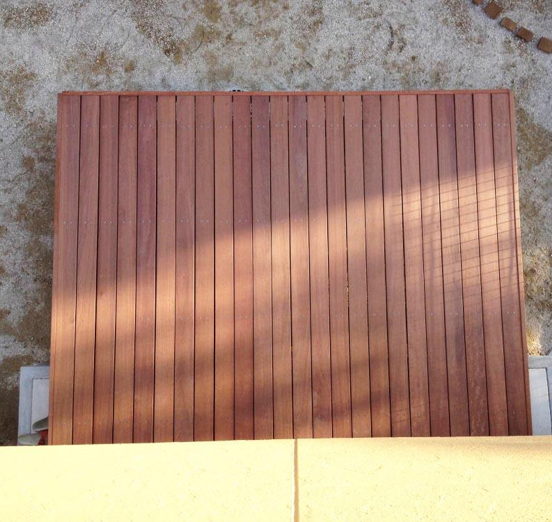 組立ハードウッドデッキ自作中川木材産業