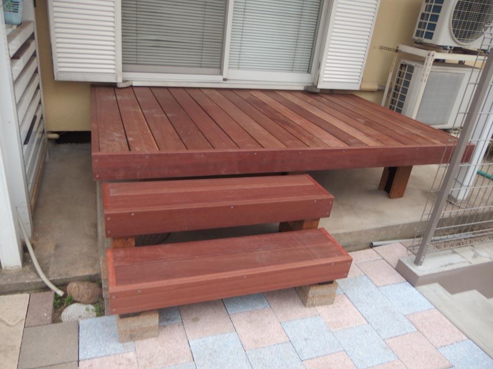 組立(DIYキット)ハードウッドデッキ自作中川木材産業